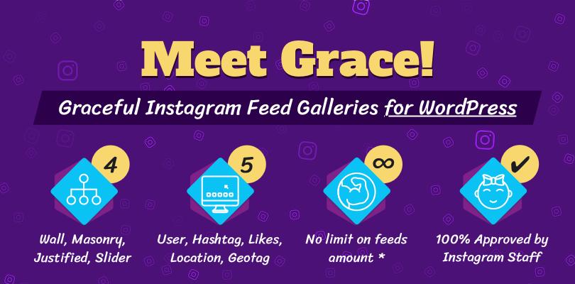 Grace WordPress Instagram Plugin Release